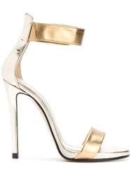 Marc Ellis Ankle Strap Sandals Metallic