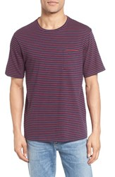 Nordstrom Men's Men's Shop Stripe Pocket T Shirt Navy Iris Red Stripe