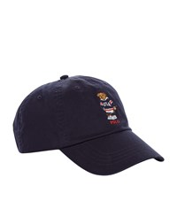 Ralph Lauren Embroidered Bear Cap Blue