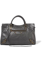 Balenciaga Classic City Textured Leather Tote Gray