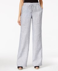 Styleandco. Style And Co. Linen Chambray Drawstring Pants Only At Macy's