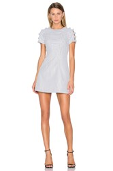 By Johnny Knot Sleeve Link Swing Dress White