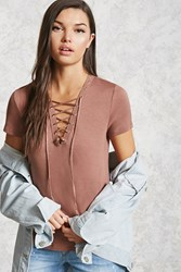 Forever 21 Lace Up Grommet Tee