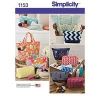 Simplicity Bag Accessories Sewing Pattern 1153 One Size