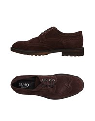 Liu Jo Jeans Lace Up Shoes Dark Brown