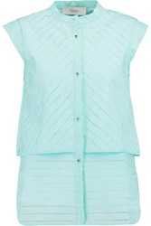 Pringle Devore Poplin Blouse Green