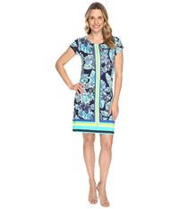 Hatley Tee Shirt Dress Kauai Floral Rainforest Women's Dress Green