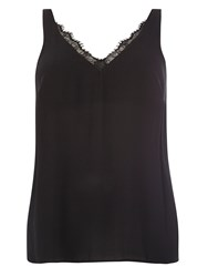 Evans Black Lace Trim Cami.