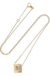Boucheron Quatre Radiant Edition 18 Karat Yellow And White Gold Diamond Necklace One Size