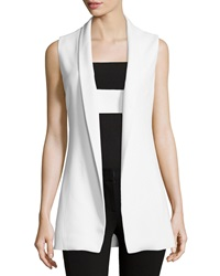 Narciso Rodriguez Open Front Shawl Collar Vest Chalk