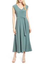 Chaus Tie Waist Maxi Dress 738 Tropic Moss