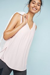 Anthropologie Layered V Neck Tank Top Neutral