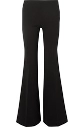 The Row Lanae Wool Blend Flared Pants Black