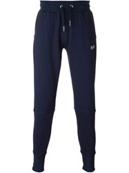 Blood Brother Embroidered Logo Sweatpants Blue
