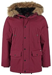 Carhartt Wip Anchorage Winter Coat Chianti Black Bordeaux