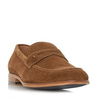 Dune Ruling Smart Penny Loafer Shoes Tan