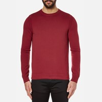 Boss Orange Men's Albinon Crew Neck Knitted Jumper Medium Red