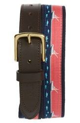 Vineyard Vines Men's Sport Fishing Canvas Club Belt