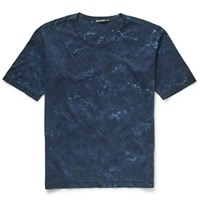 Issey Miyake Slim Fit Tie Dyed Cotton Jersey T Shirt Blue