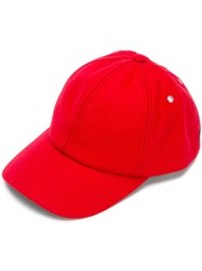 Ami Alexandre Mattiussi Classic Cap Men Virgin Wool Polyimide One Size Red