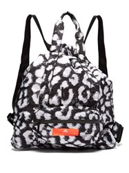 Adidas By Stella Mccartney Leopard Print Bungee Top Gym Sack Black Multi