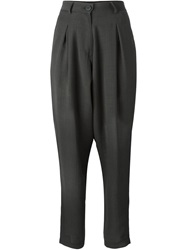 Isabel Benenato Tapered Front Pleat Trousers Grey