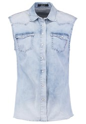Replay Waistcoat Light Blue Denim Light Blue Denim