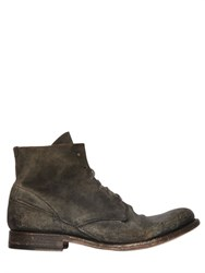 Shoto Washed Leather Cropped Boots