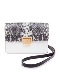 Brian Atwood Milly Leather Crossbody Bag Black White
