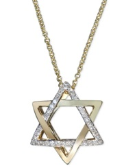 Effy Collection Effy Diamond Diamond Star Of David Necklace 1 10 Ct. T.W. In 14K Gold