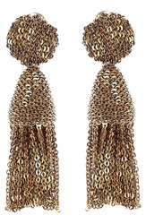 Oscar De La Renta Women's 'Classic Short' Tassel Chain Drop Earrings