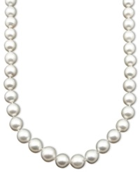 Belle De Mer Pearl Necklace 17' 14K White Gold A Cultured White South Sea Pearl Strand 9 11Mm