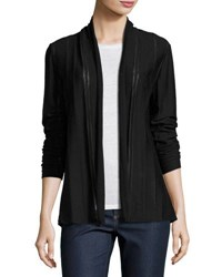 Lafayette 148 New York Shawl Collar Open Front Cardigan Black