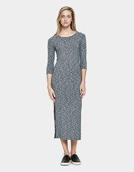 Which We Want Ribbed Midi Dress Heather Grey