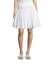 Vince Pleated Knee Length Skirt With Braided Waist White