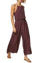 O'neill Claudia Wide Leg Jumpsuit French Roast