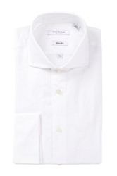 Isaac Mizrahi White Label Solid Button Long Sleeve Button Front Dress Shirt