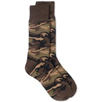 Beams Plus Camo Socks Green