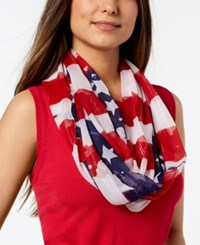 Collection Xiix Metallic Stars And Stripes Infinity Scarf Red White Blue