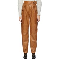Isabel Marant Brown Leather Ferris Trousers