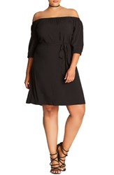 City Chic Plus Size Women's Off The Shoulder Shift Dress