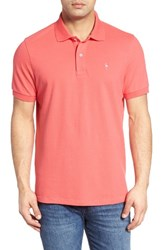 Tailorbyrd Men's Big And Tall Stretch Pique Cotton Polo Coral