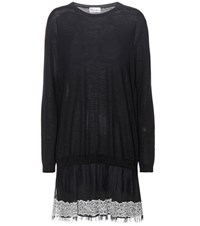 Red Valentino Wool Dress Black