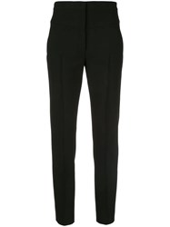 Akris Punto High Rise Tapered Trousers Black