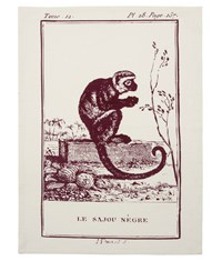 Thomas Paul Monkey Tea Towel Purple