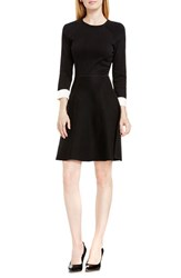Vince Camuto Women's Fit And Flare Sweater Dress Rich Black