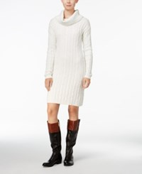 Tommy Hilfiger Georgina Cowl Neck Sweater Dress Only At Macy's Cream