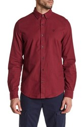 Timberland Slim Fit Gingham Check Sport Shirt Red