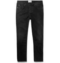 Acne Studios Town Slim Fit Cropped Stretch Denim Jeans Black