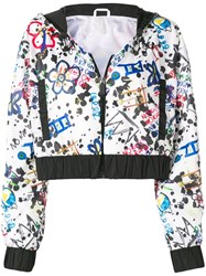 No Ka' Oi Print Cropped Jacket Black